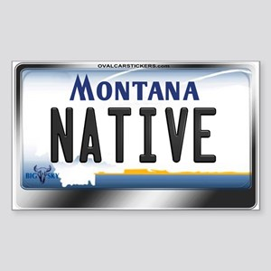 Montana License Plate - [NATIVE] Sticker (Rectangl